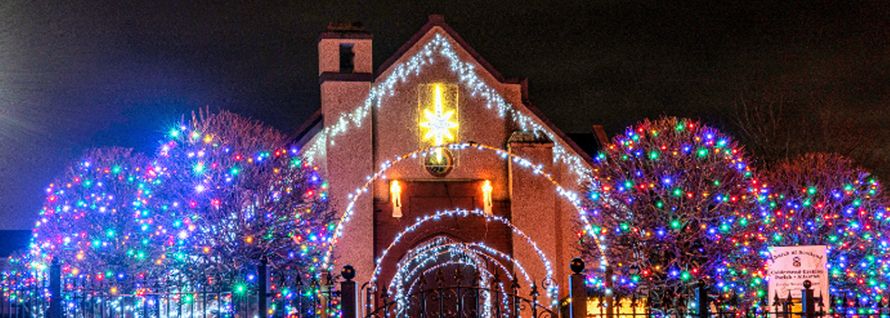 Allanton Church Christmas Lights